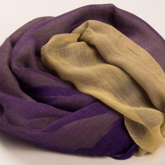 Purple & Cream Two Tone Hijab