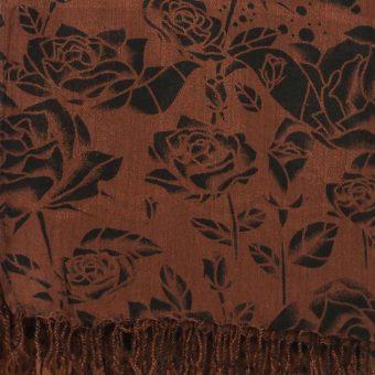 Black & Brown Floral Hijab