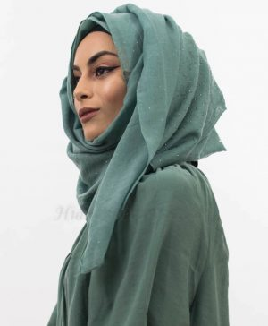 Diamante Hijab Turquoise 5 Website