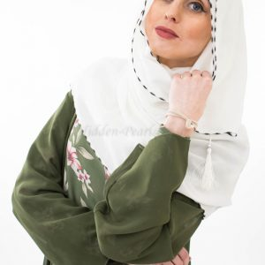 Diamante Hijab - White - Hidden Pearls 2