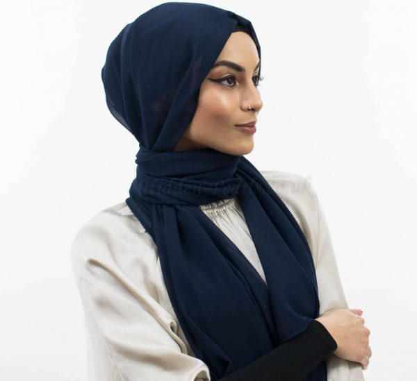 Everyday Chiffon Hijab Midnight Blue website
