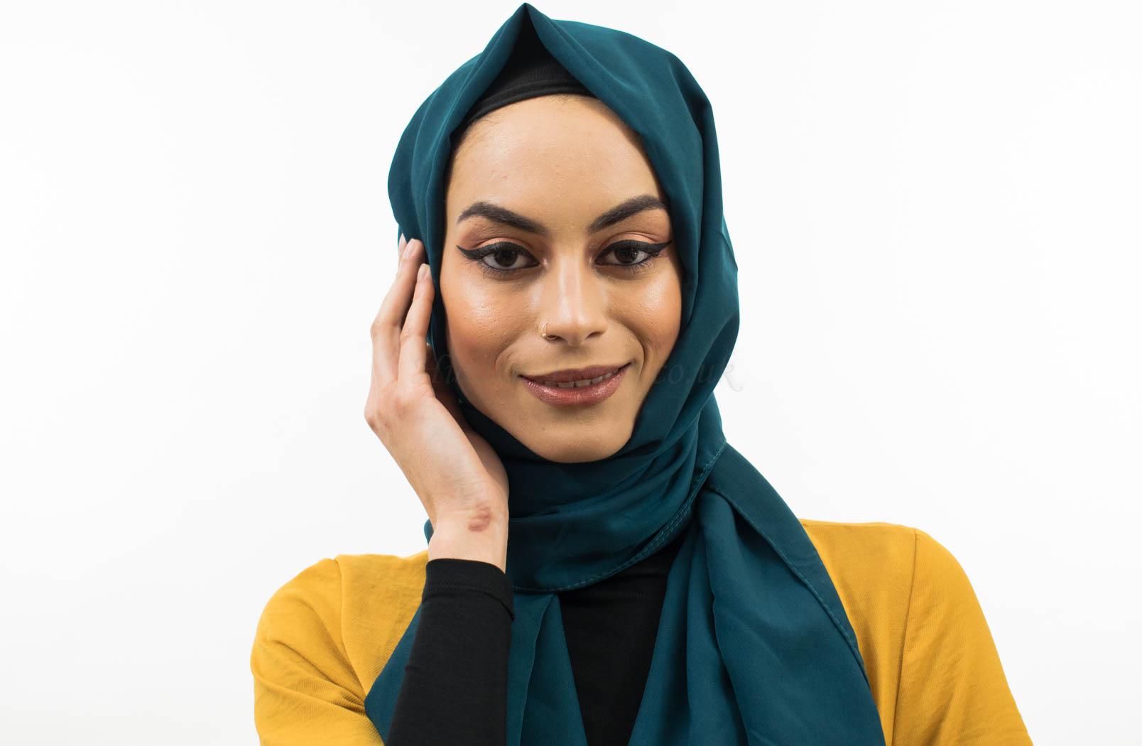 Everyday Chiffon-like Hijab deep teal