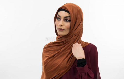 Everyday Plain Jersey Hijab - Burnt Orange