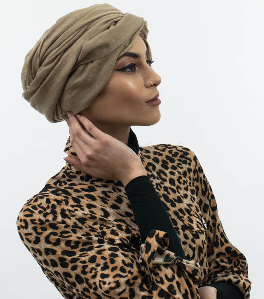 Maxi Plain Hijab Camel