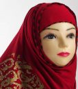 Diamante Red Hijab
