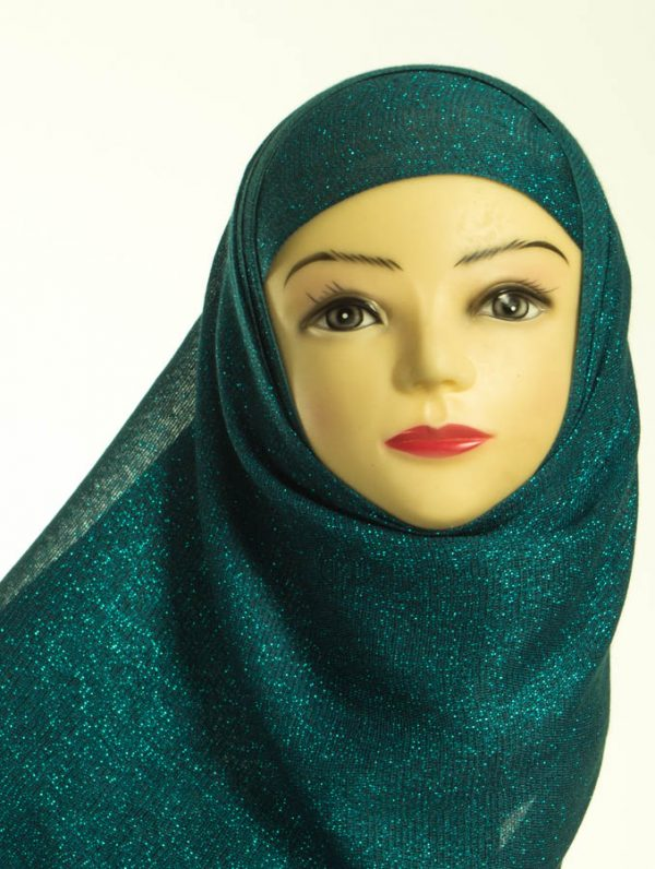 Teal Shimmer Hijab