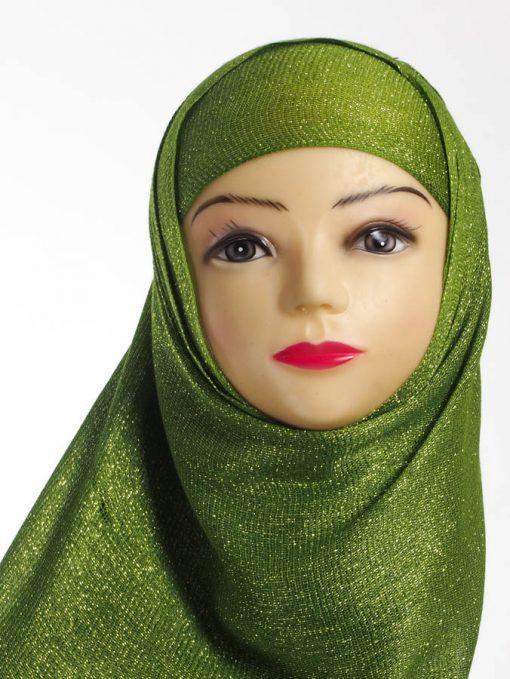 Islamic Green Shimmer Hijab