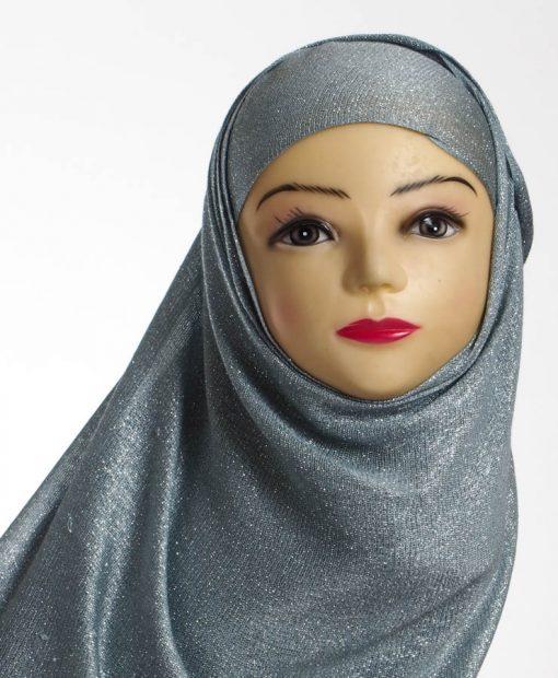 Grey Shimmer Hijab