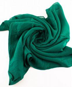 Plain Hijab Forest Green 1