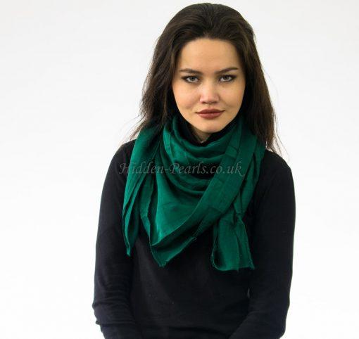 Plain Hijab Forest Green