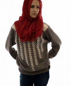 Plain Hijab Red 3
