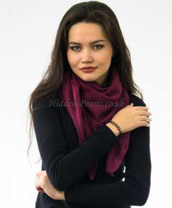 Plain Hijab Rosewood