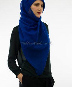Plain Hijab Royal Blue 2