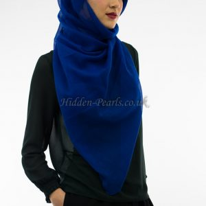 Plain Hijab Royal Blue 2