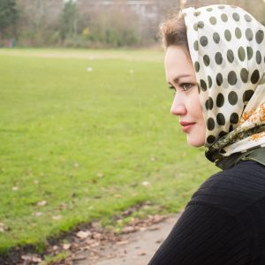 Turkish Hijab Polka Dot Cream& Green