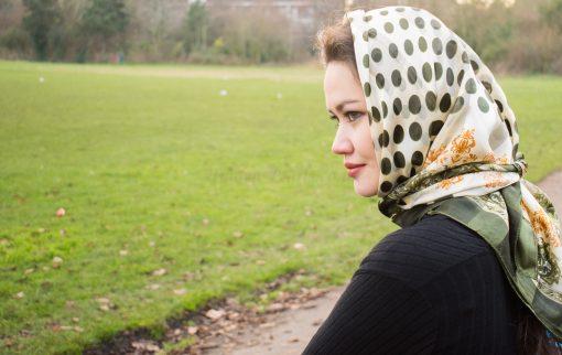 Turkish Hijab Polka Dot Cream& Green