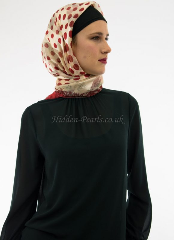 Turkish Hijab Polka Dot Red 2