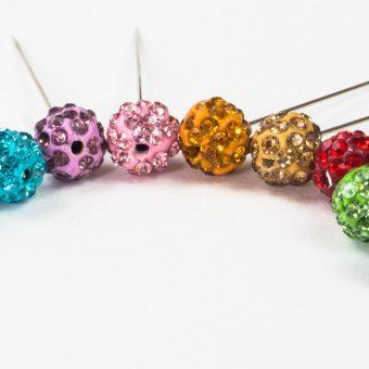 Lavender Diamante Globe Hijab Pin
