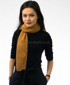 Crinkle Scarf Copper Tan 2