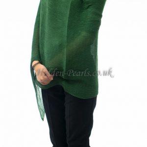 Crinkle Scarf Green