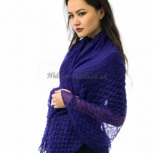 Crinkle Scarf Purple 2