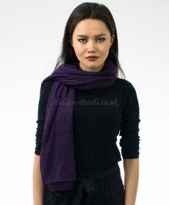 Crinkle Scarf Violet 2