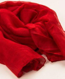 Red Plain Hijab