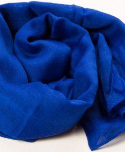 Royal Blue Plain Hijab