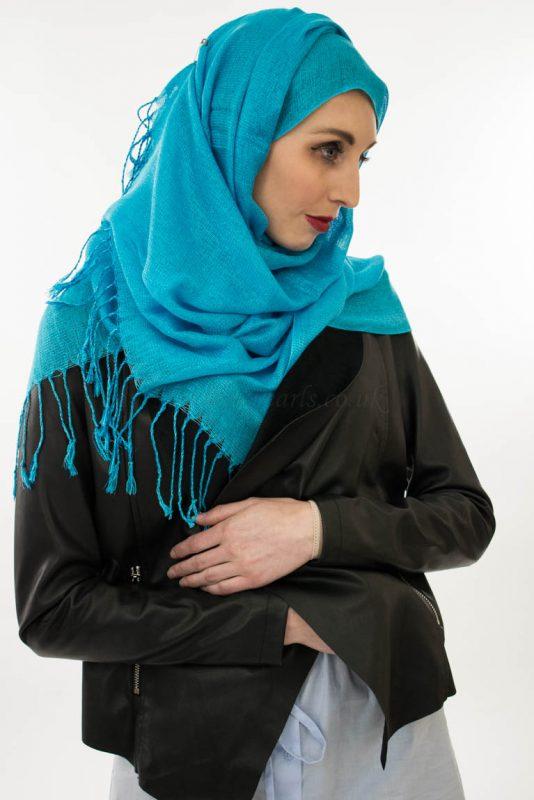 Shimmer Hijab - Blue - Hidden Pearls 3
