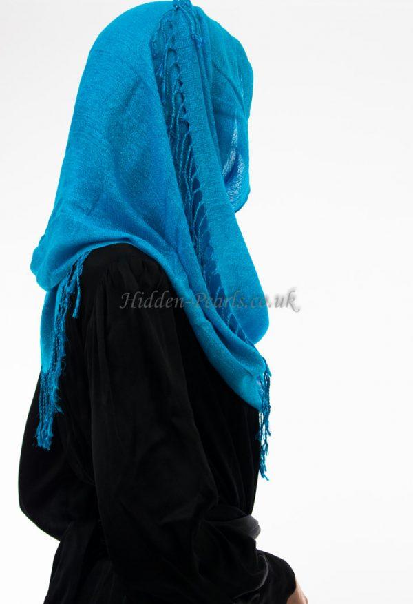 Shimmer Hijab Sky Blue
