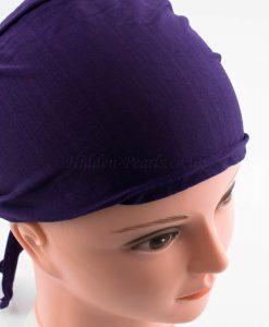 Bonnet Underscarf - Aubergine - Hidden Pearls