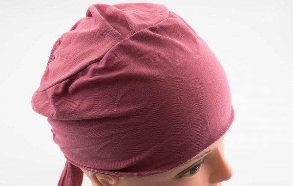 Bonnet Underscarf - Spanish Pink - Hidden Pearls