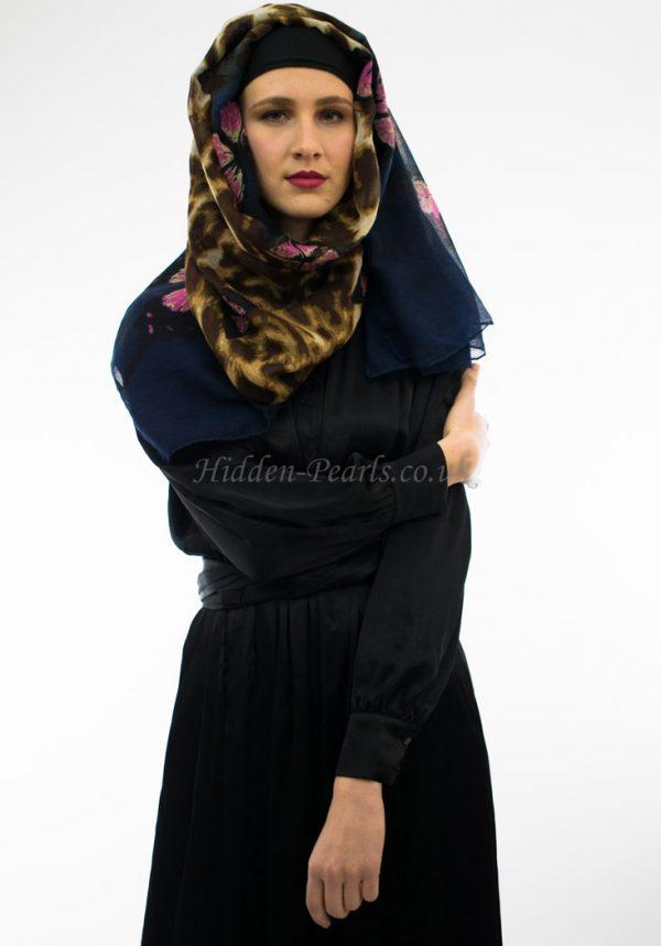 Butterfly Hijab Midnight Blue Mix 2