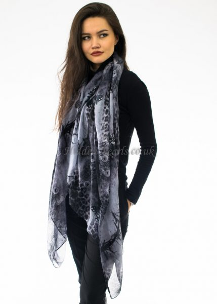 Butterfly Scarf Black & White