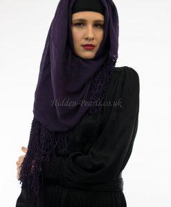 Lace Hijab Aubergine
