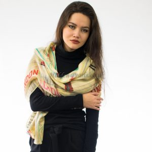 London Scarf Light Yellow 2