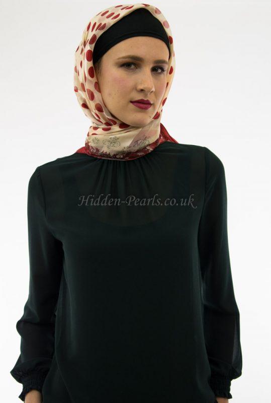 Turkish Hijab Polka Dot Red