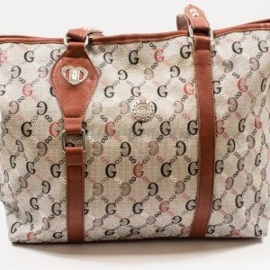grey-brown shoulder bag