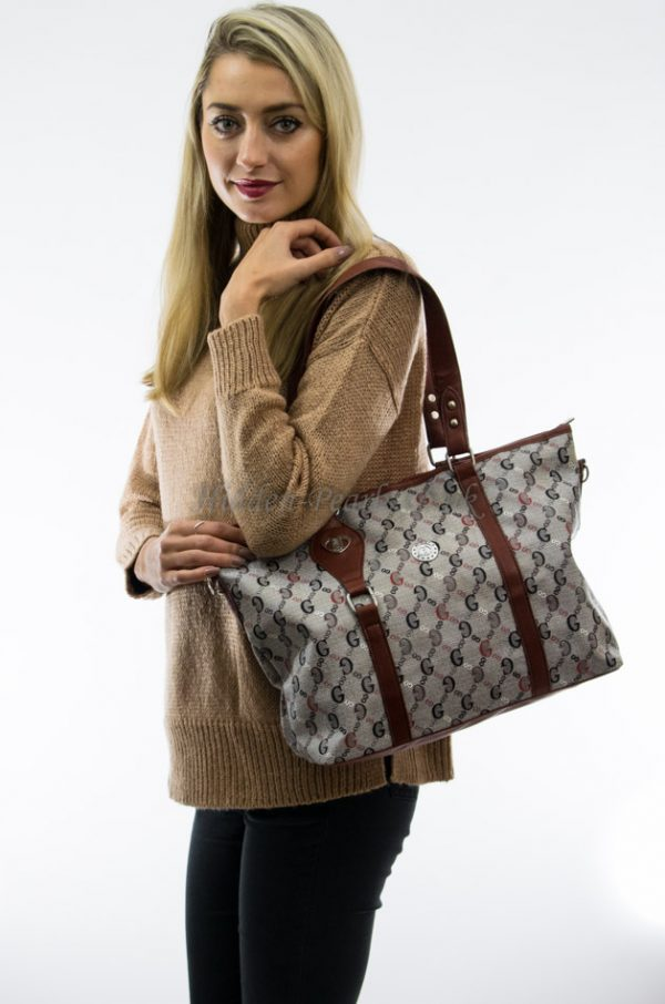 grey brown shoulder bag 2