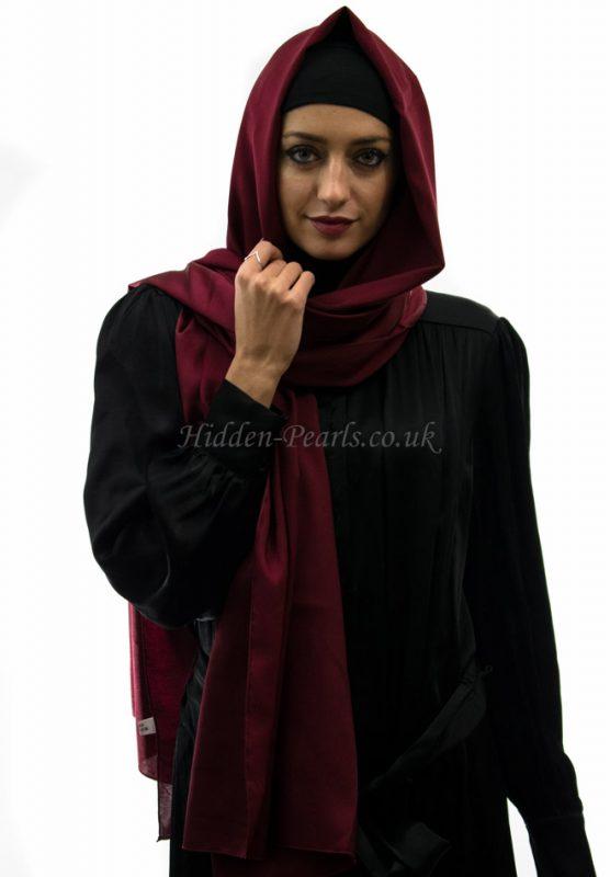 silk plain maroon
