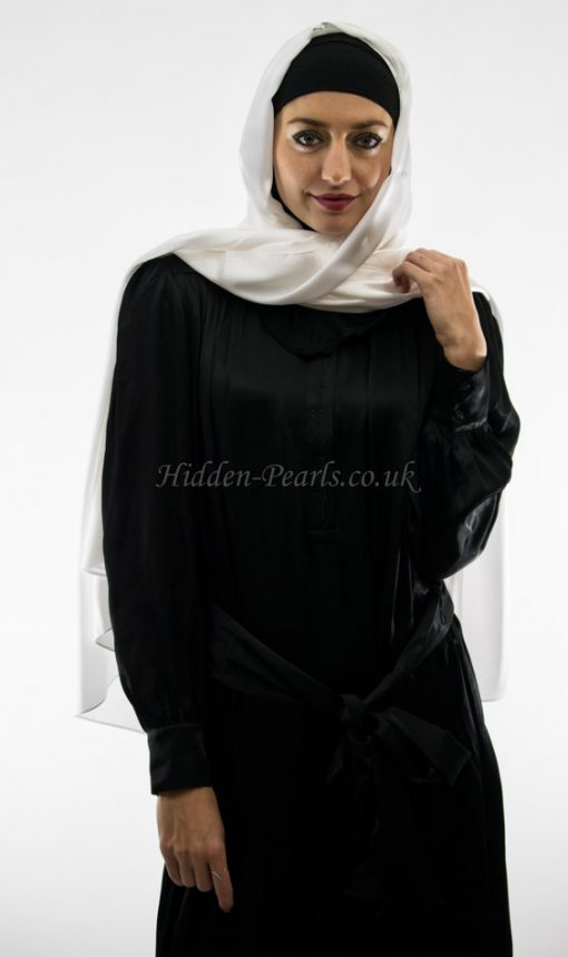 silk plain white