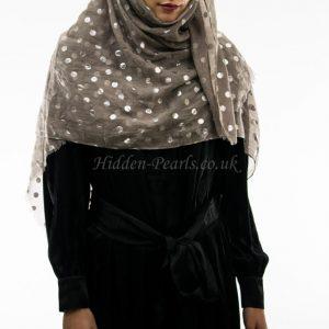 Metallic polka dot hijab style2