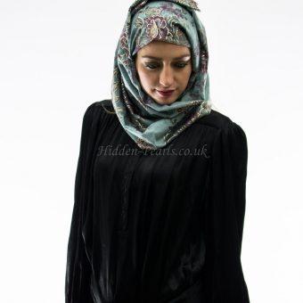 glitter rose hijab duck egg hijab style