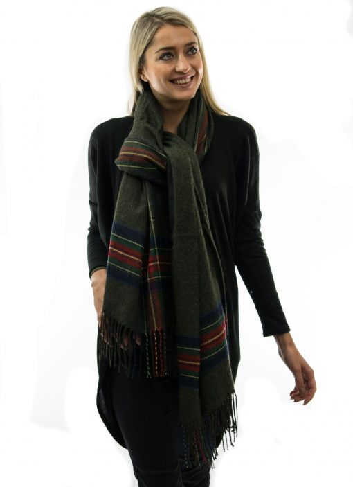 large green scarf