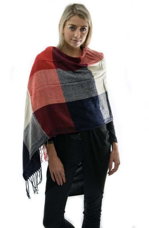 small check red scarf