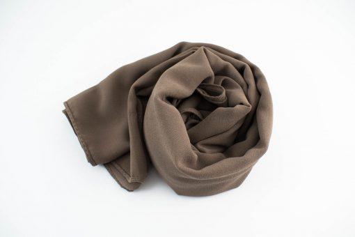 Chiffon Hijab Mocha 2