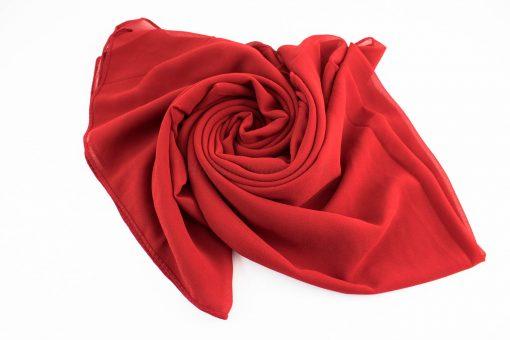Chiffon Hijab Red 4