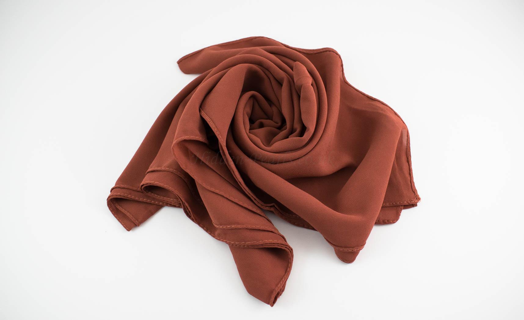 Chiffon Hijab Rust 4