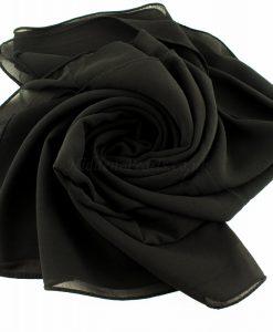 Chiffon Plain Black