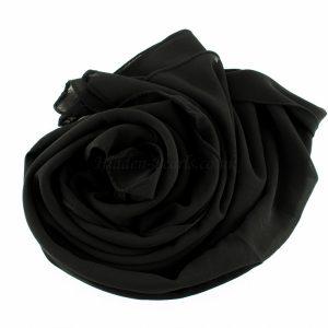 Chiffon Plain Black 3